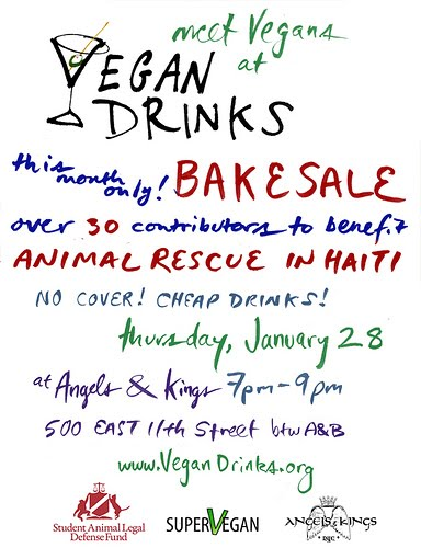 Vegan Bake Sales for Haiti | Red-Handled Scissors