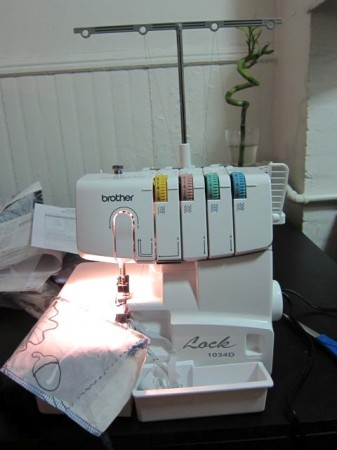 New Brother 1034D Serger! | Red-Handled Scissors