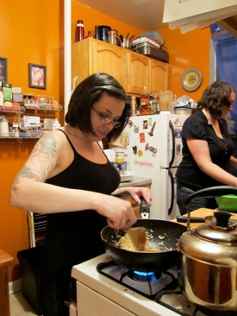 Vegan Dinner Party at Amanda and Catherine's | Red-Handled Scissors