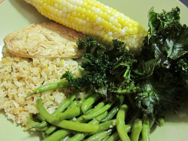 Sunday Snapshot: Mostly Farmers' Market Dinner | Red-Handled Scissors