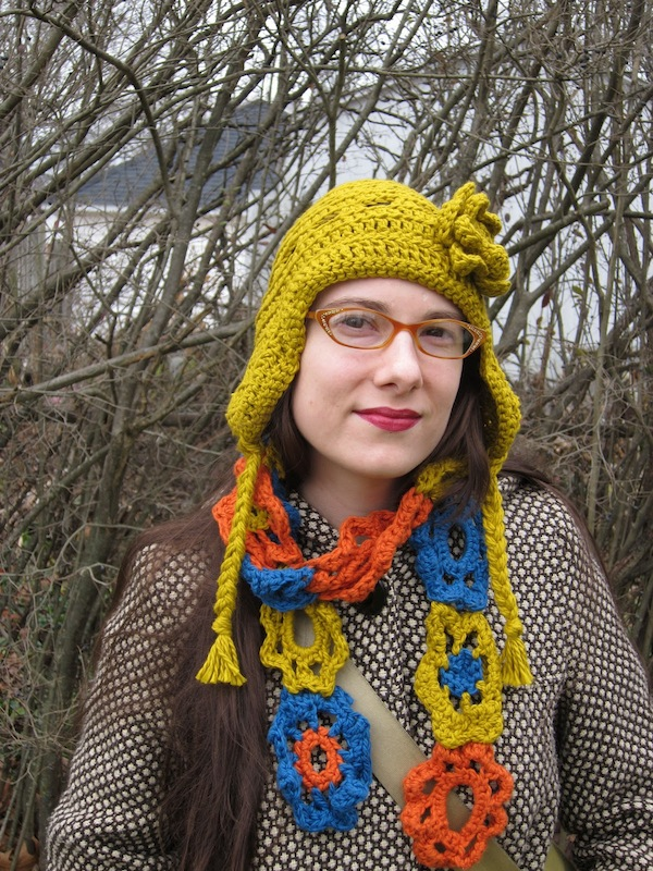 Sunday Snapshot: Crochet Hat and Scarf? Not so Boring. | Red-Handled Scissors