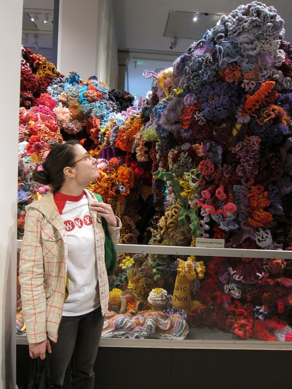 Hyperbolic Crochet Coral Reef Exhibit at the Smithsonian | Red-Handled Scissors