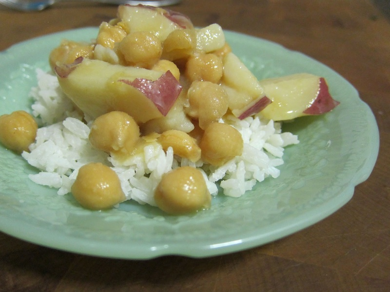 Seasoned Chickpeas and Potatoes with Coconut Rice | Red-Handled Scissors