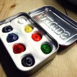 Altoids Tin Watercolor Set | Red-Handled Scissors