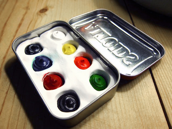 Altoids Tin Watercolor Set | Red-Handled Scissors