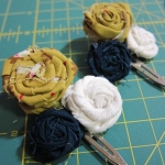 Rosette Barrette Tutorial Finished