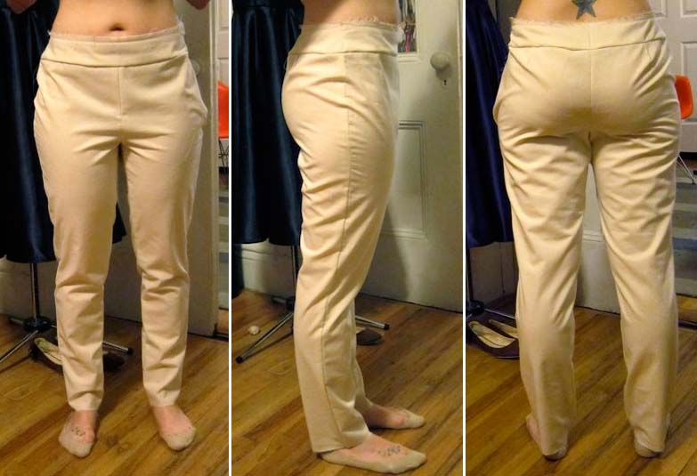 Colette Patterns Clover Trouser Sewalong: The Muslin | Red-Handled Scissors