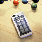 TARDIS iPhone Case Cross-Stitch Pattern | The Zen of Making