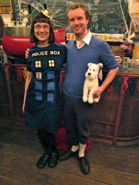 TARDIS Dress Halloween Costume | Red-Handled Scissors