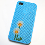 Dandelion iPhone Case Cross-Stitch Pattern | Red-Handled Scissors