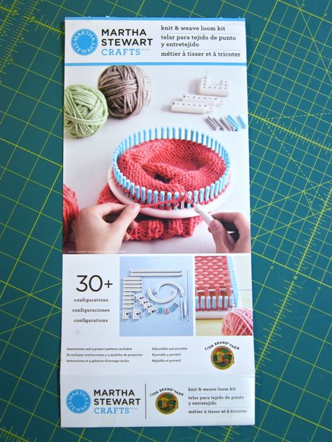 Review: Martha Stewart Crafts and Lion Brand Yarn Knit and Weave Loom Kit for Craft Test Dummies | Red-Handled Scissors