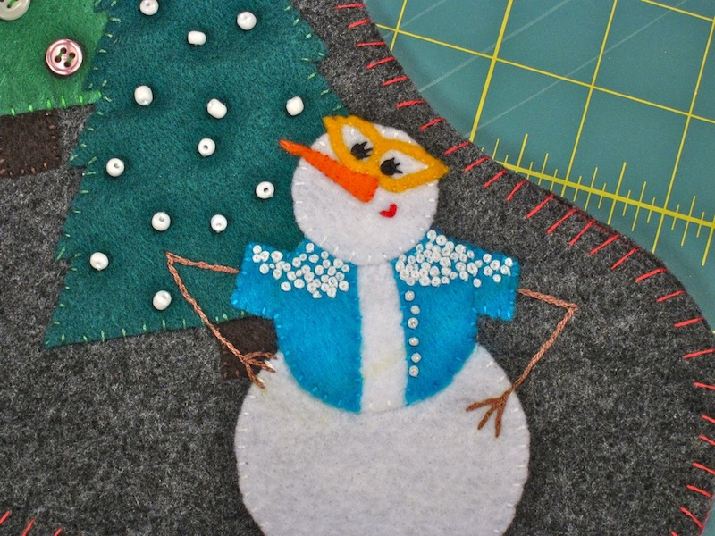 Snowman Stocking Mini-Me | Red-Handled Scissors