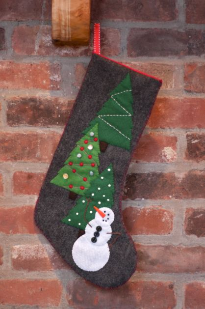 Tutorial: Snowman Stocking with Pattern for Craftzine.com | Red-Handled Scissors