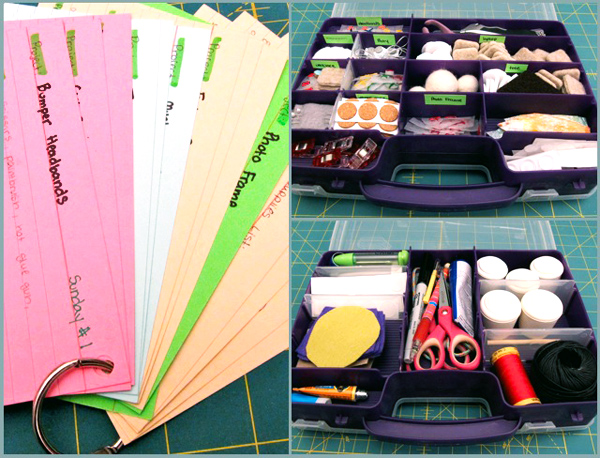 Organizing for CHA Craft Demos | Red-Handled Scissors