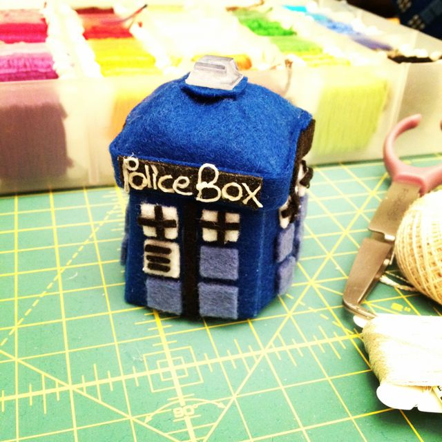 CHA Sneak Peek: TARDIS Finger Puppet | Red-Handled Scissors