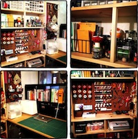 Sunday Snapshot: Small Space Studio Tour   Red-Handled Scissors