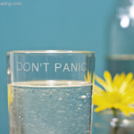 Tutorial: Recycled DON'T PANIC Drink Set for FaveCrafts | Red-Handled Scissors