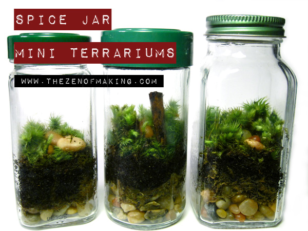 Tutorial: Spice Jar Mini Terrariums | The Zen of Making