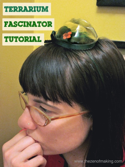 Tutorial: Make a Terrarium Fascinator with Your Own Hair | The Zen of Making