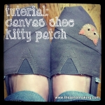 Tutorial: Canvas Shoe Kitty Patch | Red-Handled Scissors