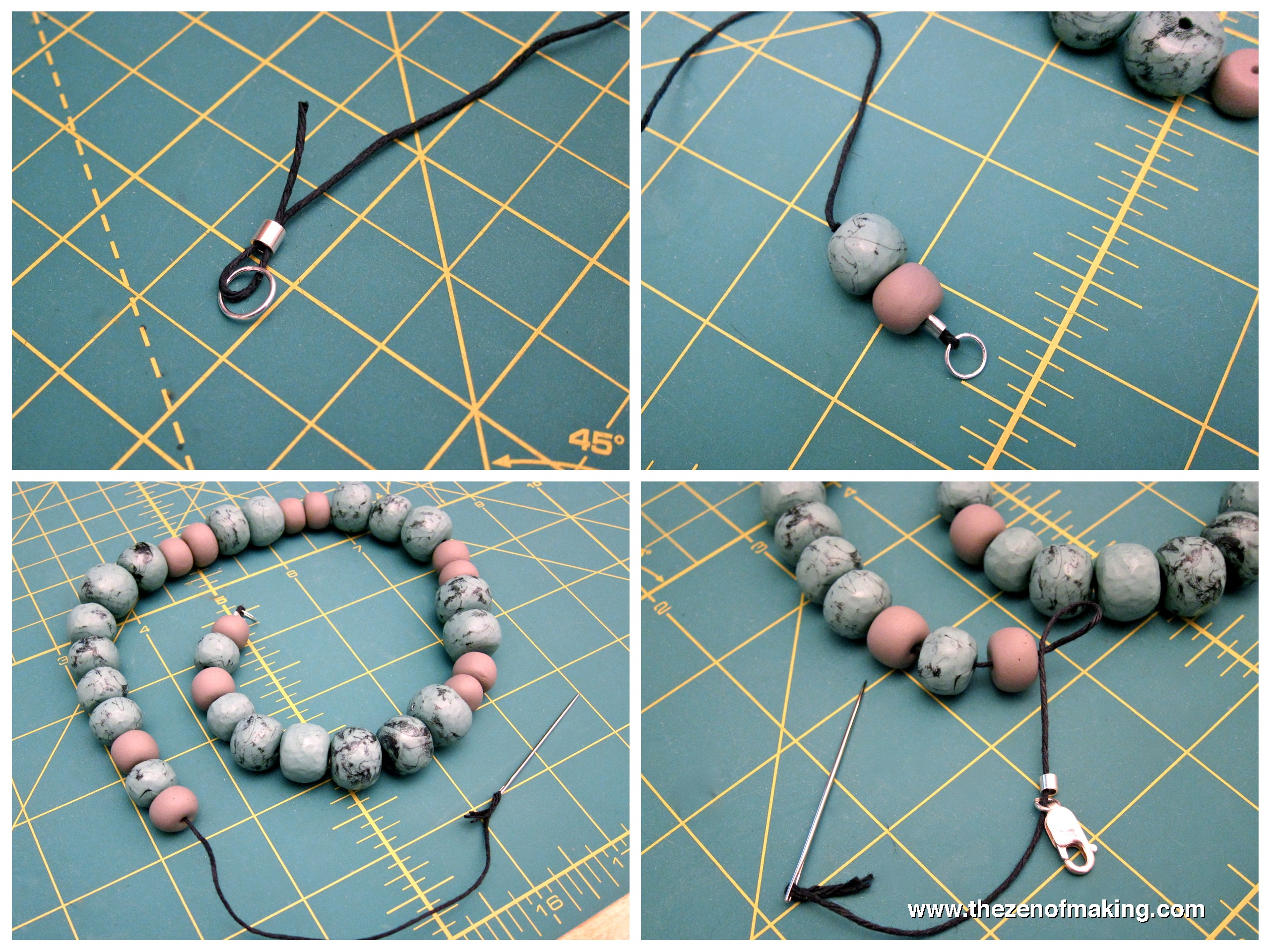 Tutorial: Faux Turquoise Polymer Clay Beaded Necklace | Red ...