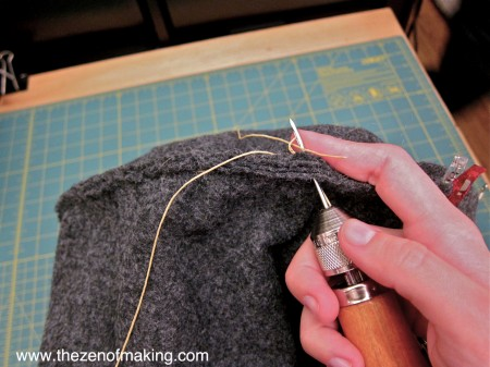 Craft Tool: Speedy Stitcher Sewing Awl | Red-Handled Scissors