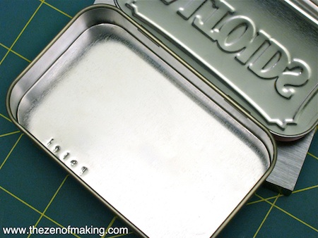 Sunday Snapshot: Metal Stamped Altoids Tin | Red-Handled Scissors