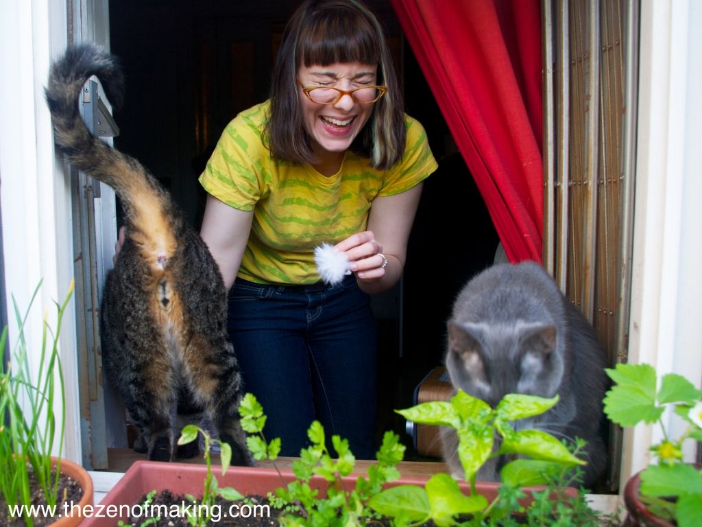 Sunday Snapshot: Funny Cat Butts for Mother's Day | Red-Handled Scissors