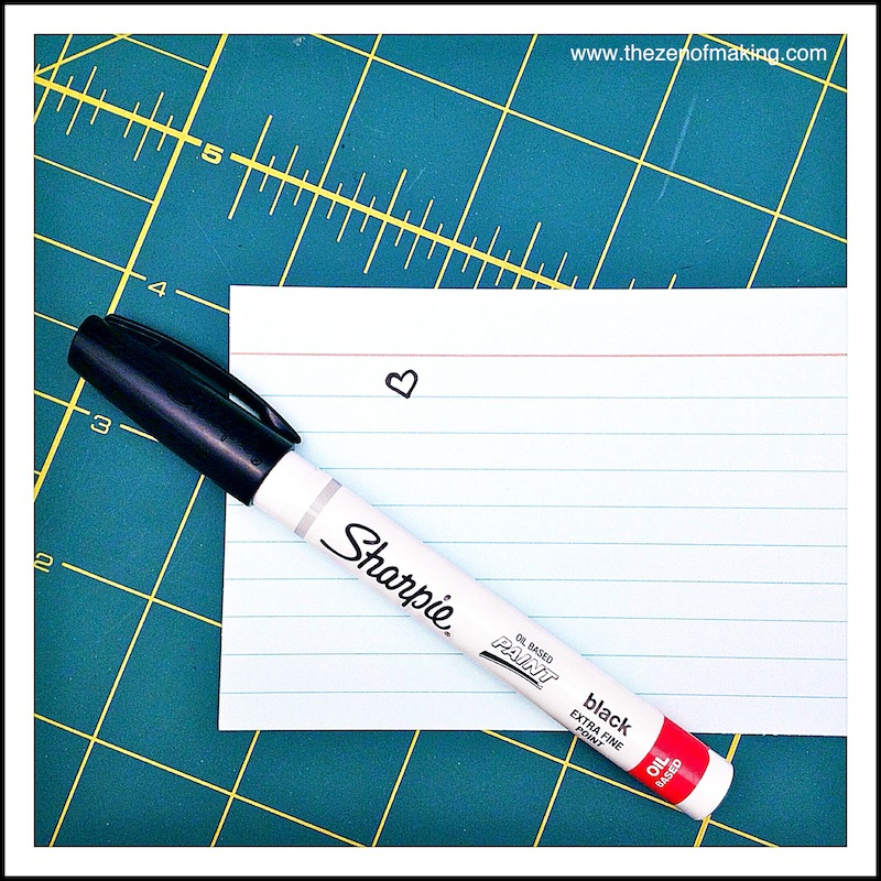 Craft Tool: Sharpie Extra Fine Point Paint Markers | Red-Handled Scissors