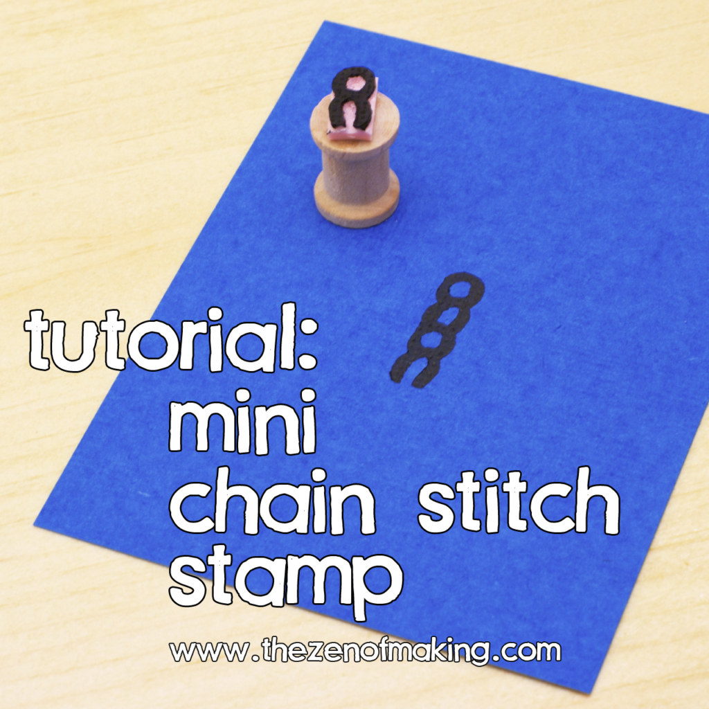 Tutorial: Mini Chain Stitch Stamp | Red-Handled Scissors