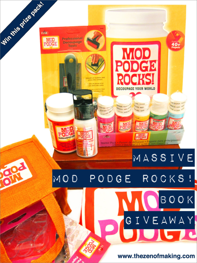Massive MOD PODGE ROCKS! Book Review and Giveaway | Red-Handled Scissors