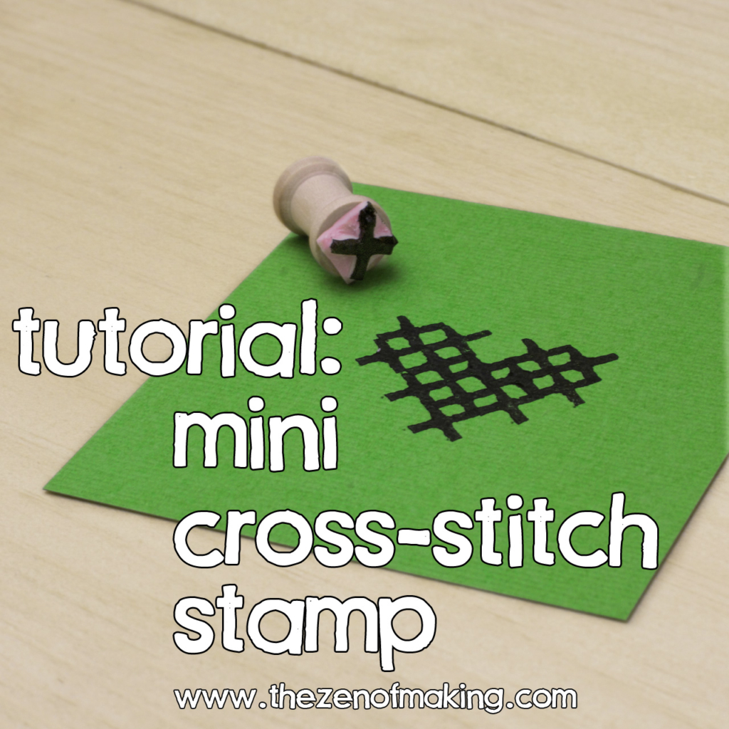 Tutorial: Mini Cross-Stitch Stamp | Red-Handled Scissors