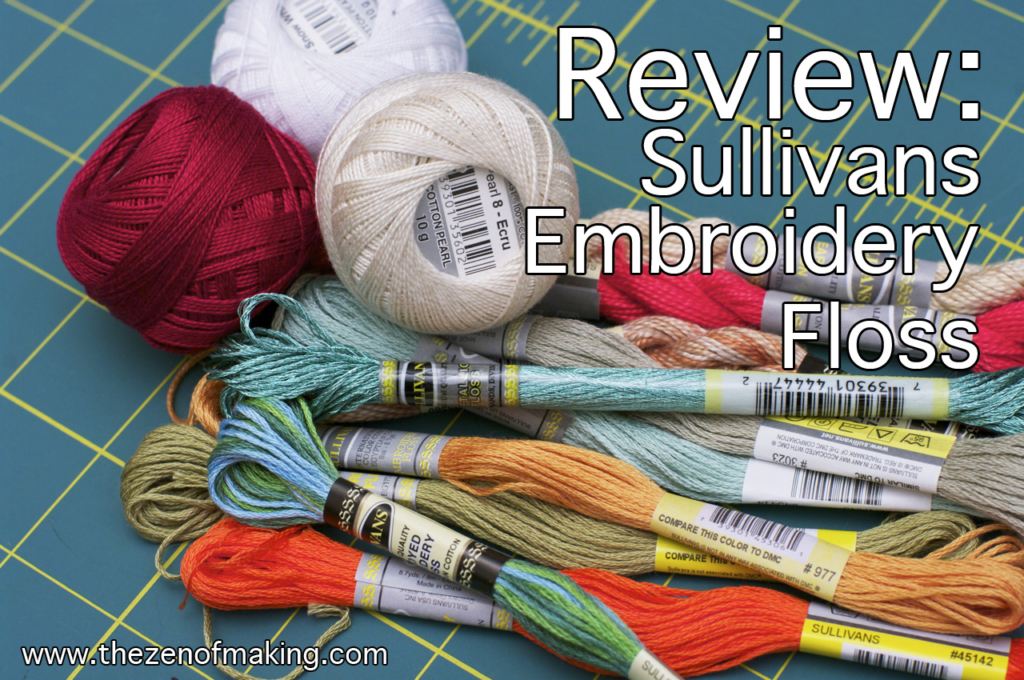 Review: Sullivans Embroidery Floss for Craft Test Dummies | Red-Handled Scissors