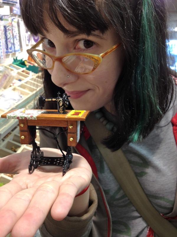 Sunday Snapshot: Teeny Tiny Sewing Machine | Red-Handled Scissors