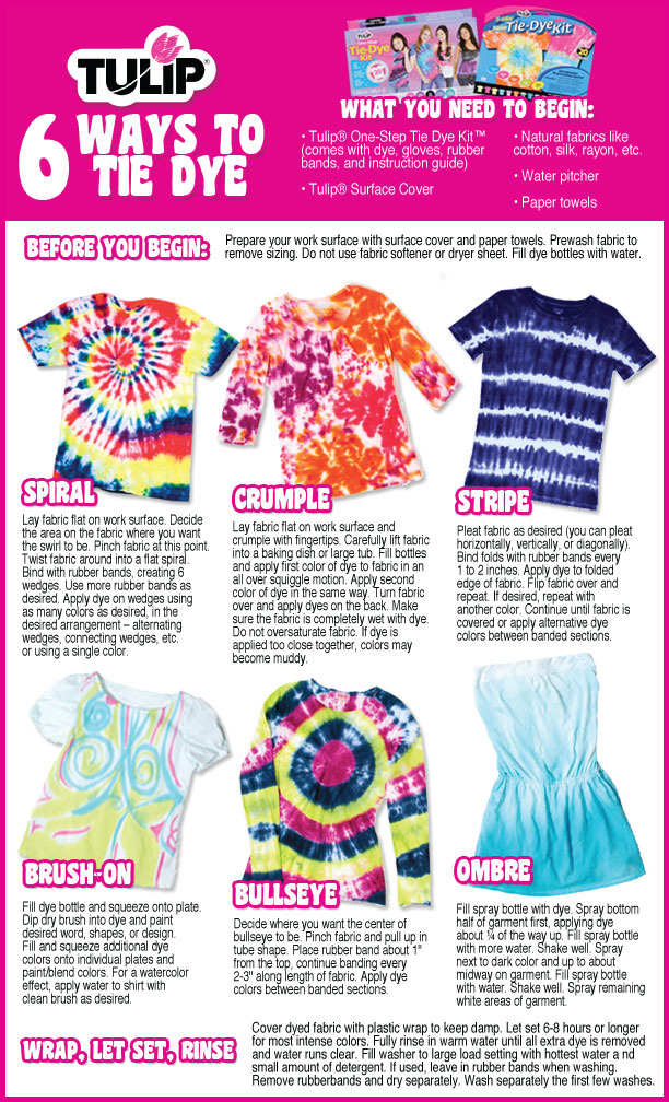 Tie Dye Manual Daily Instruction Manual Guides