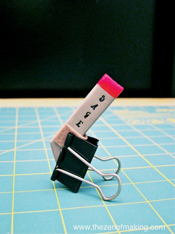 Craft Tip: Use Binder Clips as Mini Clamps and Easels | Red-Handled Scissors