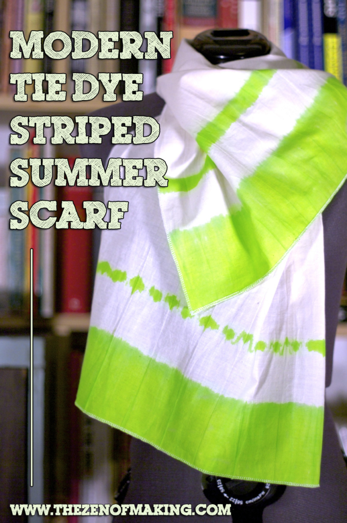 Tutorial: Modern Tie Dye Striped Summer Scarf | Red-Handled Scissors