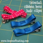 Tutorial: Ribbon Bow Hair Clips | The Zen of Making
