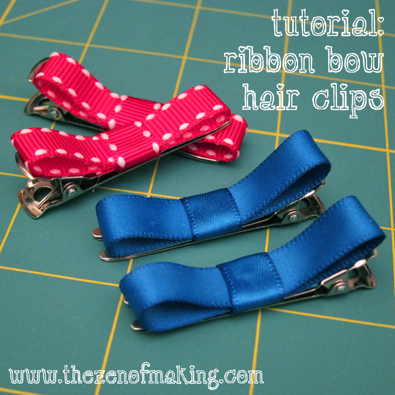 Tutorial: Ribbon Bow Hair Clips