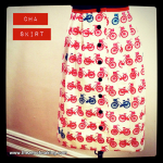 Sunday Shapshot: Bicycle Skirt for CHA | Red-Handled Scissors