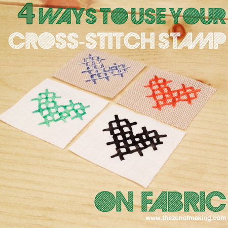 Craft Tip: 4 Ways to Cross-Stitch Stamp on Fabric | Red-Handled Scissors