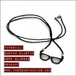Tutorial: Shrink Plastic Nerd Glasses Pendant | The Zen of Making