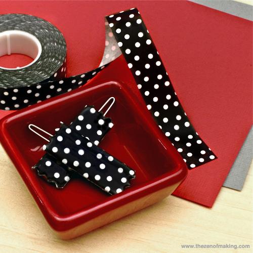 washi tape barrettes