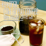 Tutorial: Cold Brew Coffee with Reusable Coffee Bag for CRAFT | Red-Handled Scissors