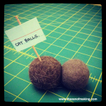 No Crafts 'Till Boston (But Here Are Some Cat Balls Instead) | Red-Handled Scissors