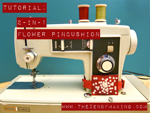 Tutorial: 2-in-1 Flower Pincushion | Red-Handled Scissors
