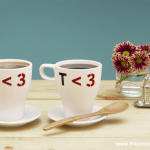 Tutorial: Tea Love Mugs with Martha Stewart Crafts Glass Paint and Stencils | Red-Handled Scissors
