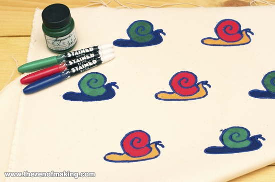 Tutorial: Quick and Easy Fabric Printing | The Zen of Making