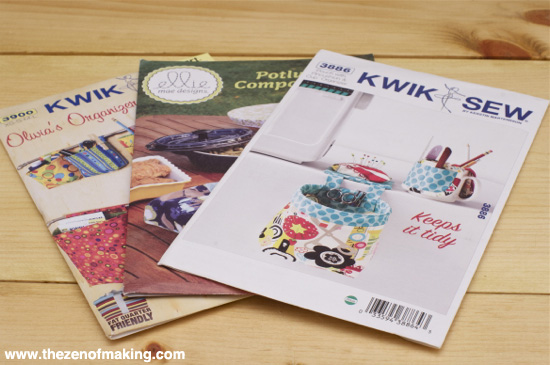 Review: Kwik Sew Organizer Patterns for Craft Test Dummies | Red-Handled Scissors