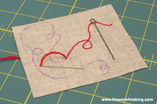 Tutorial: Embroidered Needle Case with Scrapbooking Attitude | Red-Handled Scissors
